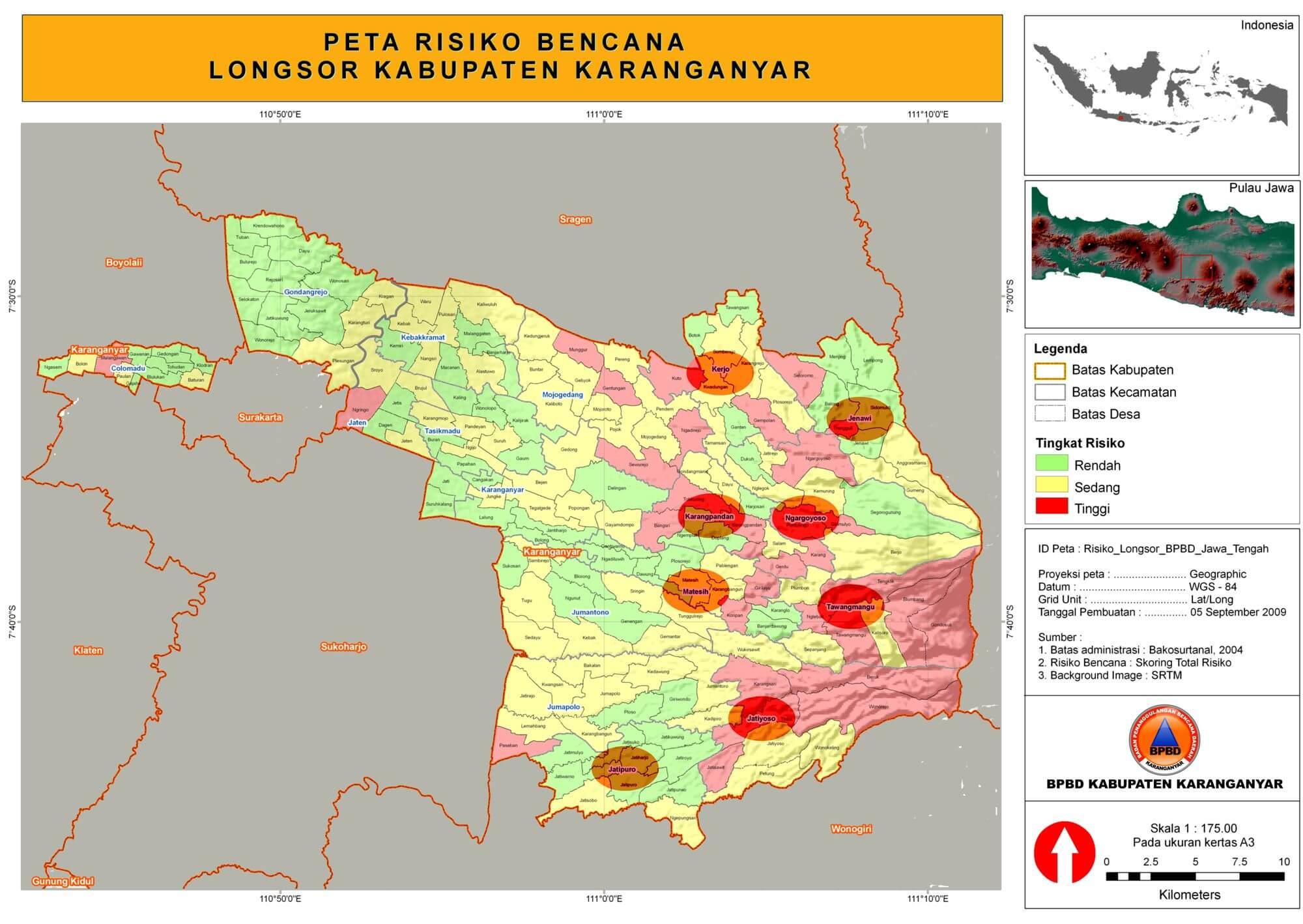 Peta Risiko Bencana Longsor