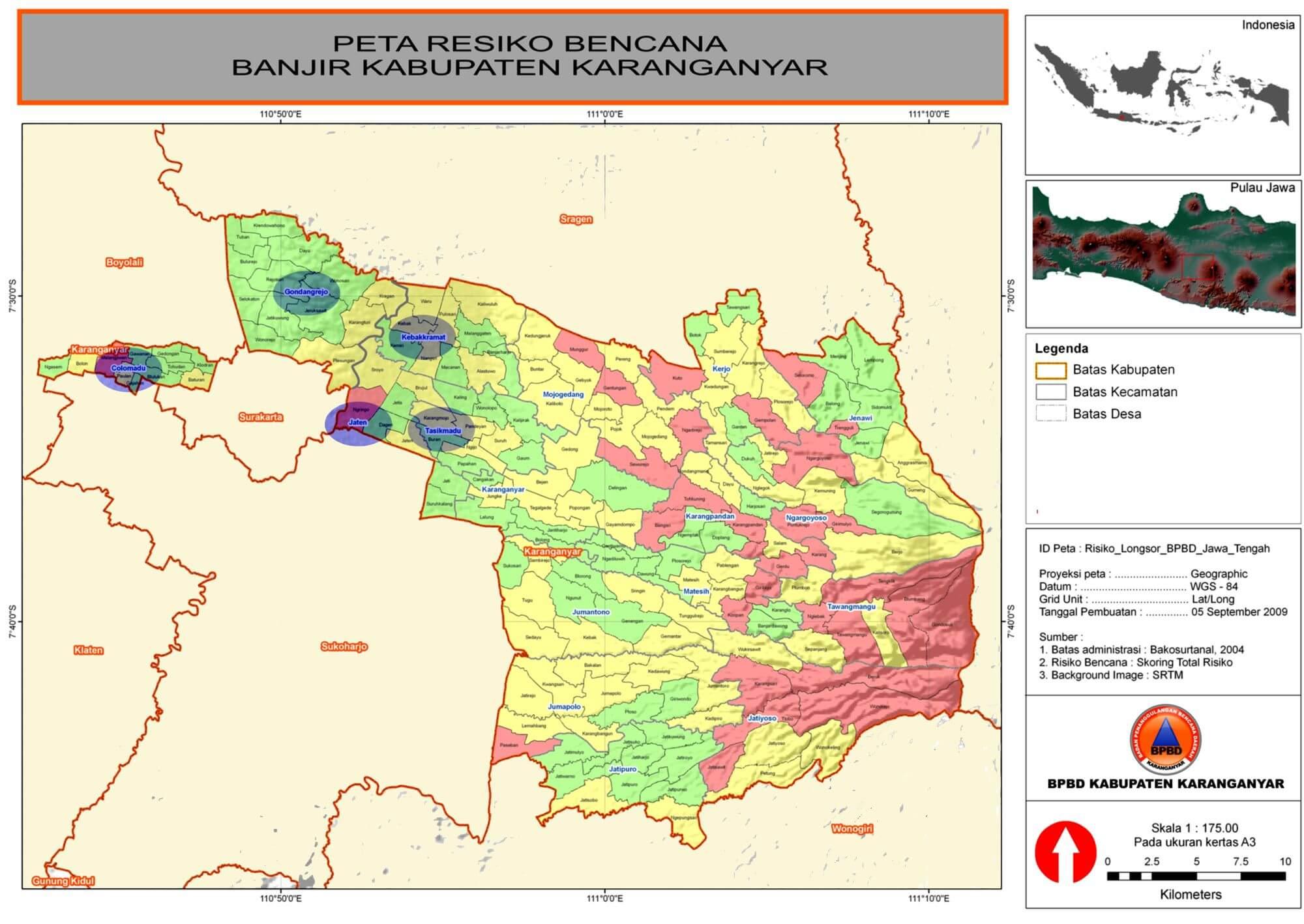 Peta Resiko Bencana Banjir