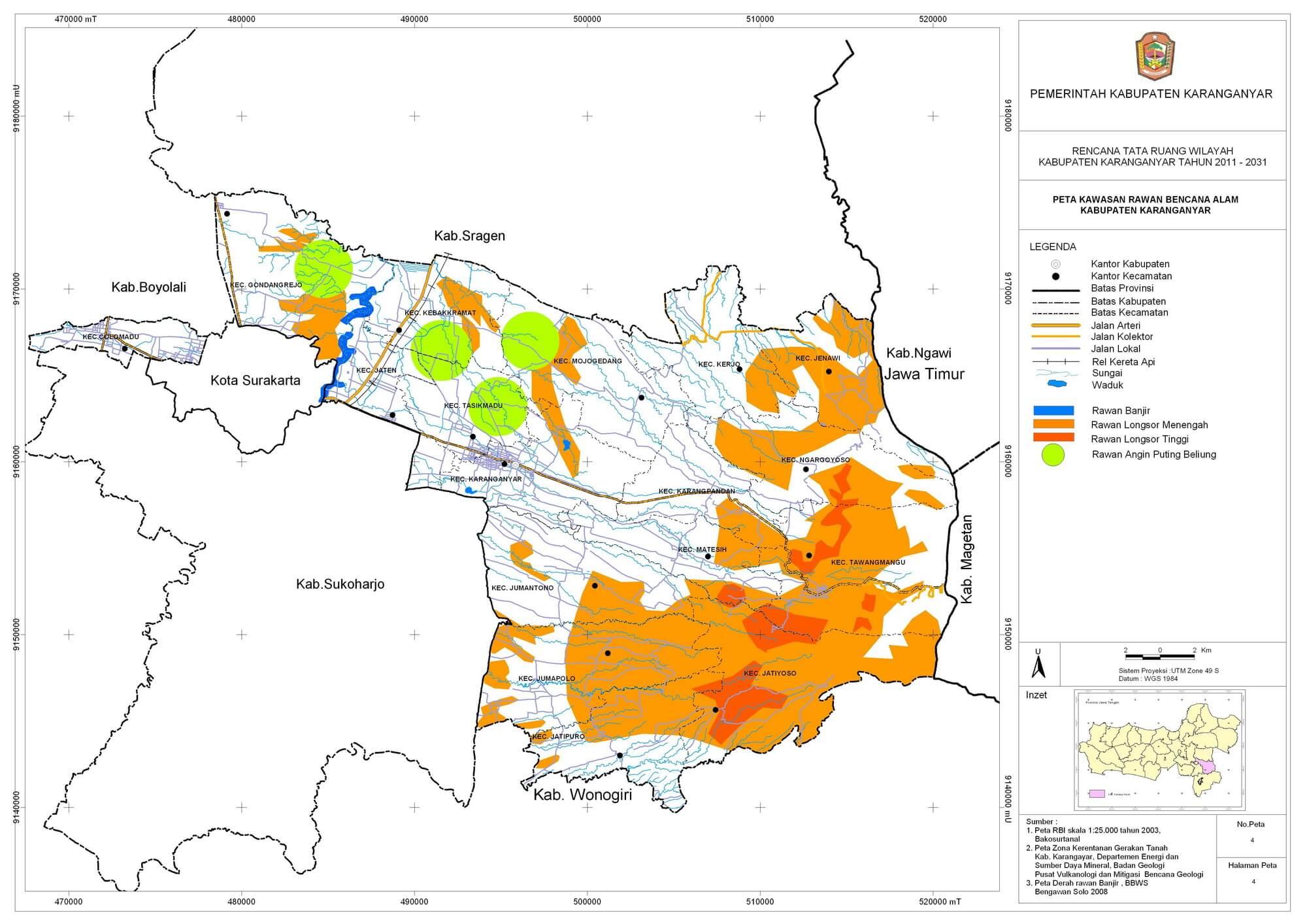 Peta Kawasan Rawan Bencana Alam