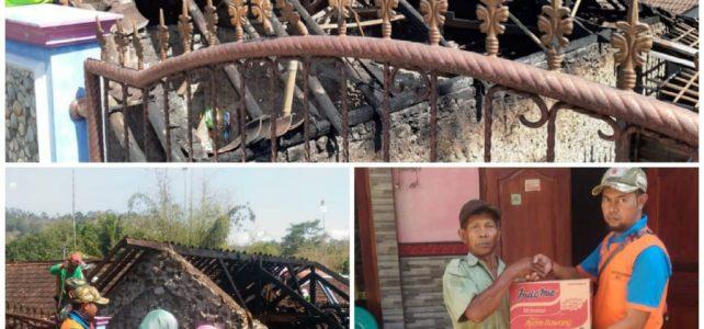 Kebakaran Rumah Dusun Gugur RT 01/XIII, Desa Koripan, Kecamatan Matesih